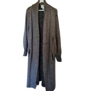 Vintage 80s 90s maxi chunky duster cardigan coat